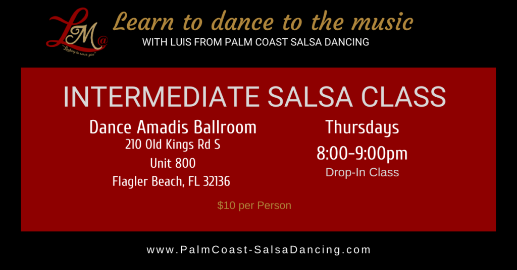 Intermediate Salsa Class Flagler Beach